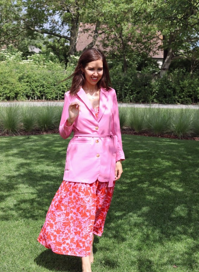 Yasserena loose blazer fuchsia pink