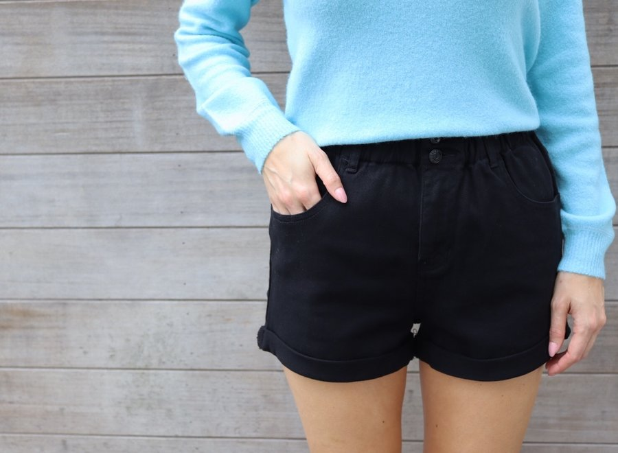 Jeans short black
