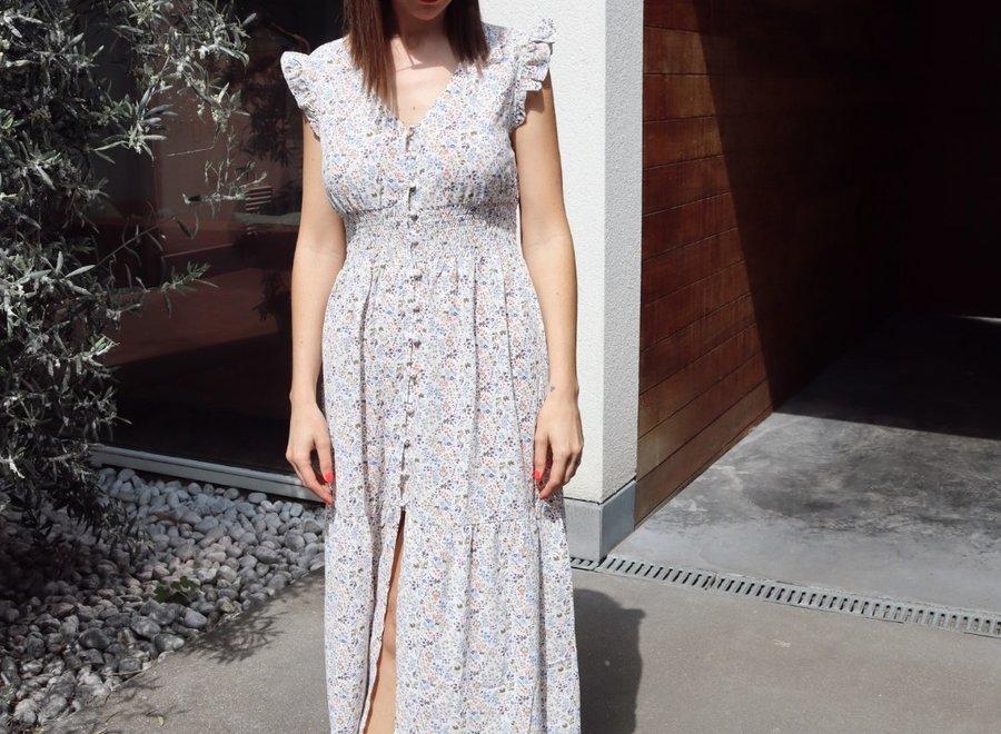 PREORDER Maxi dress flower Melissa white