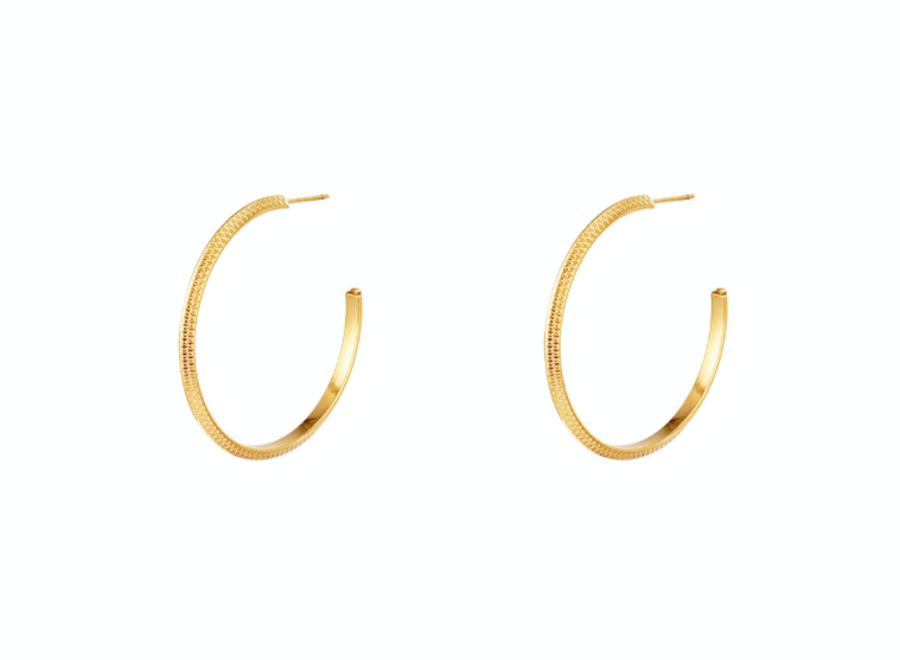 Earrings golden hoops