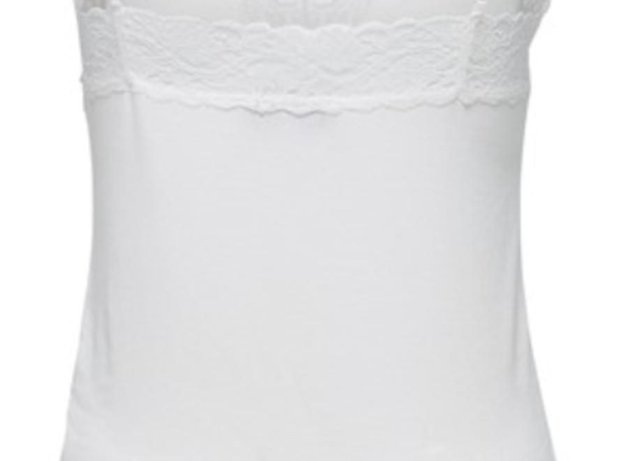 Top rib lace singlet Snow White NOOS