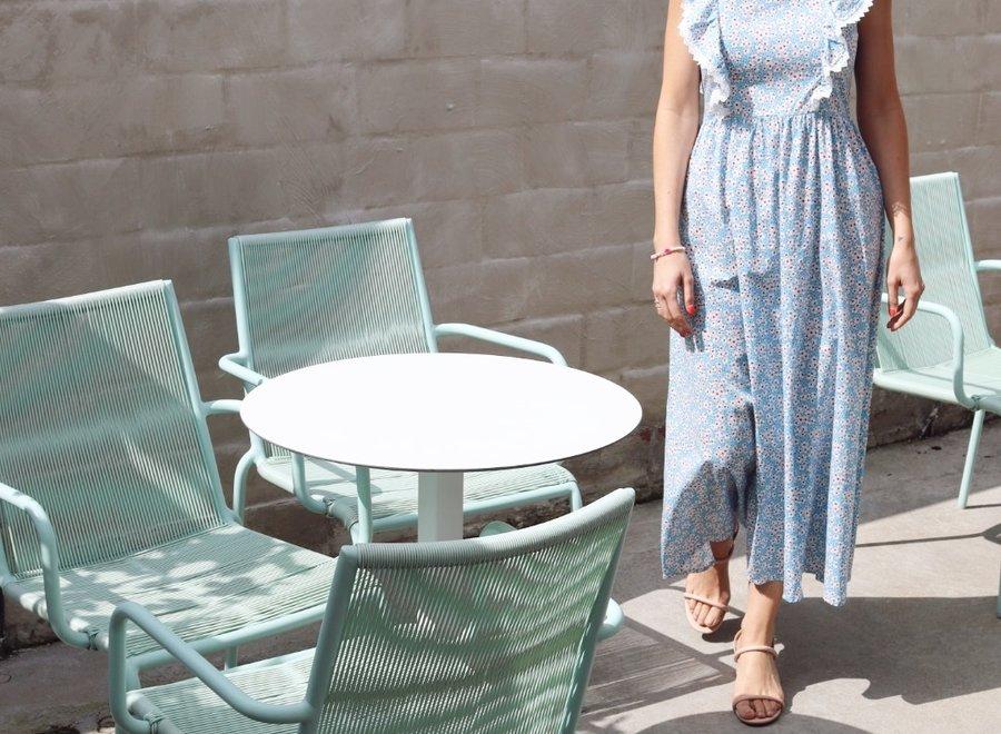 Stephanie blue flower dress