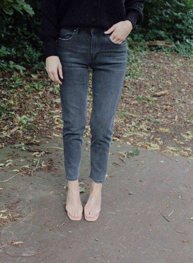 Mom jeans dark grey
