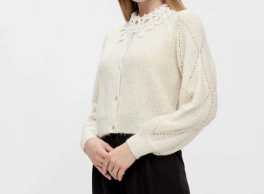Yasfina ls knit cardigan eggnogg