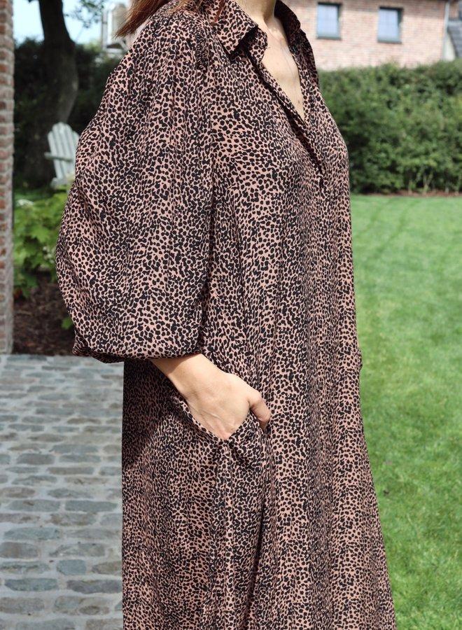 Yaslaivo midi shirt dress mocha mousse