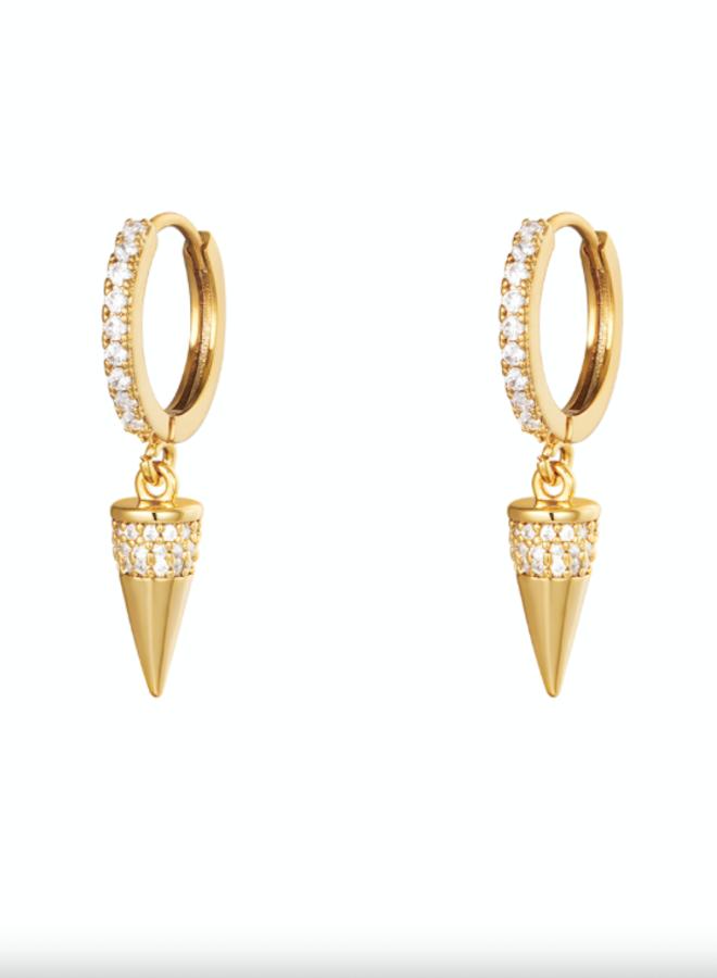 Earrings diamond cone