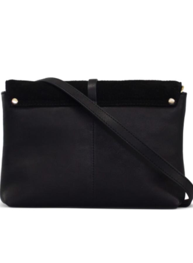 Ella midi black/croco soft grain leather