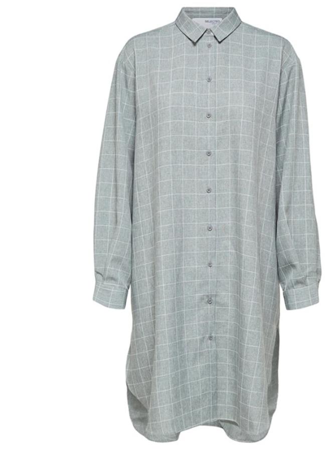 Slfhelga long shirt grey