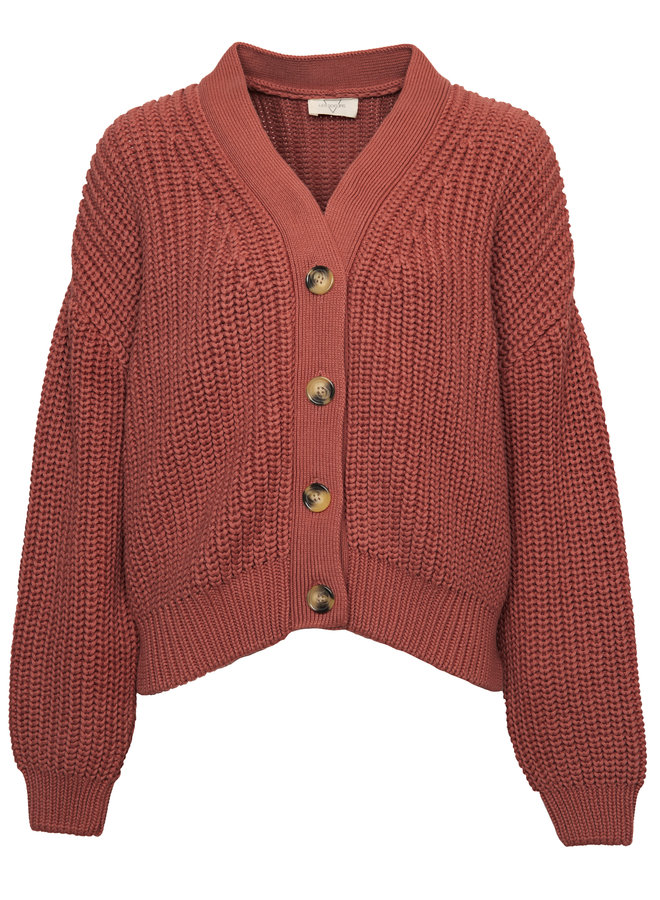 Holly Cotton knit cardigan abricot XS/S