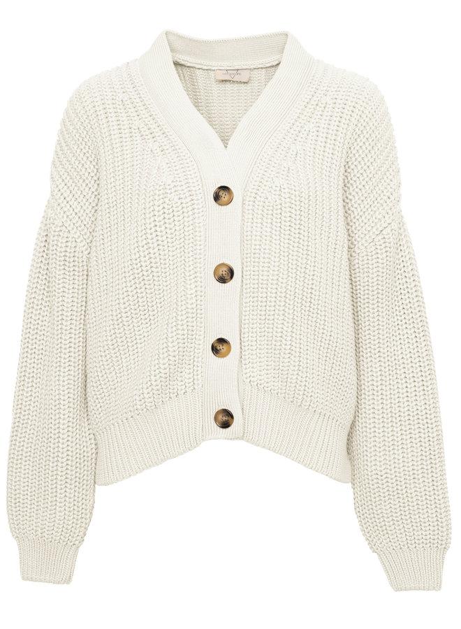 Holly Cotton knit cardigan Ecru XS/S