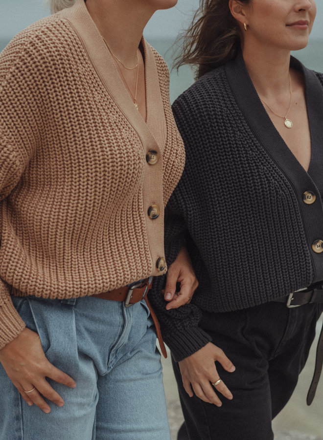 Holly Cotton knit cardigan vintage black XS/S
