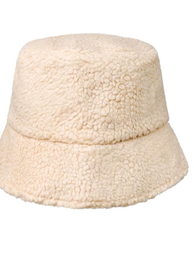 Bucket teddy hat ecru