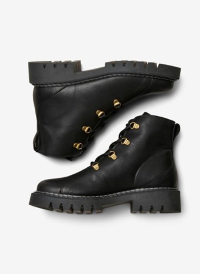 Slfvega laceup boot black