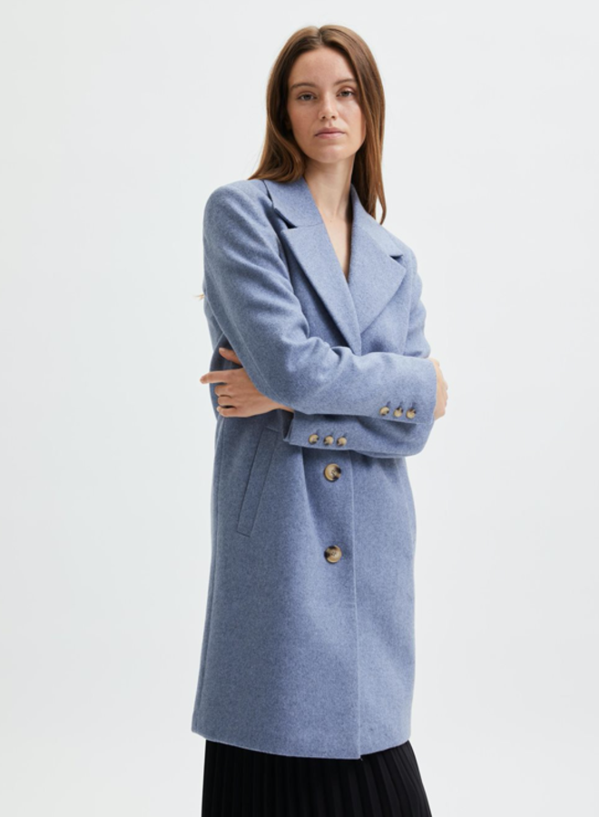 Slfnew Sasja wool coat Stonewash