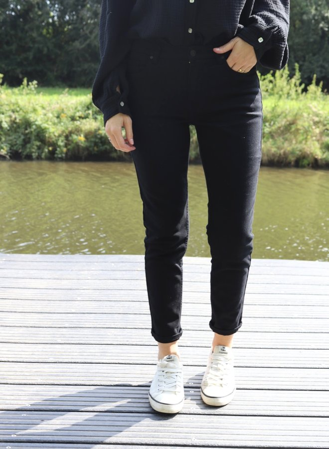 Relax jeans black not distressed