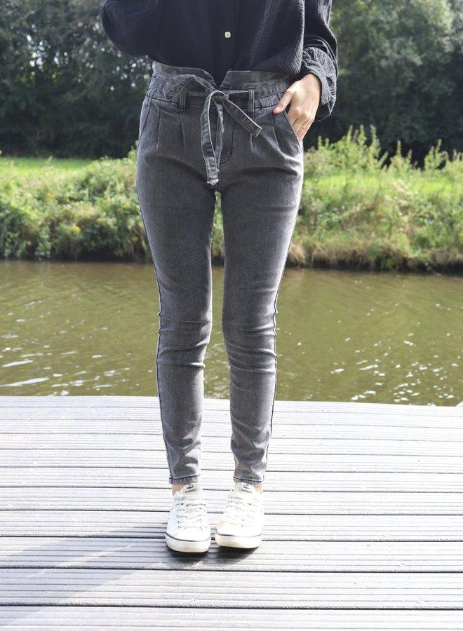 Paperbag jeans dark grey