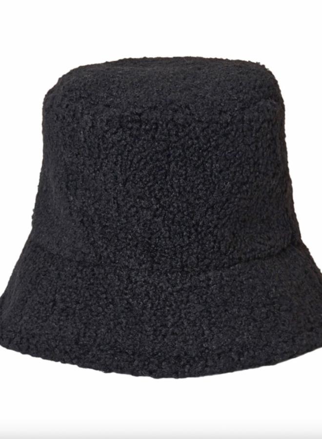 Bucket teddy hat black