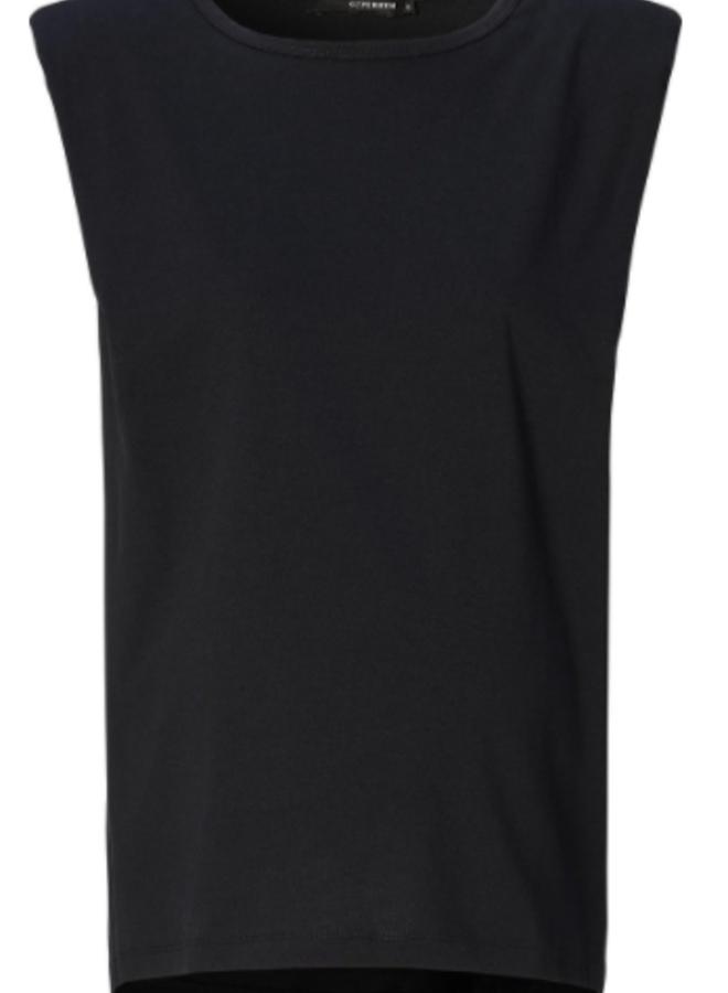T-shirt  shoulderpads black