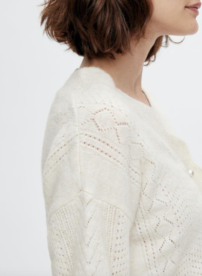Yasdidi knit cardigan sand dollar