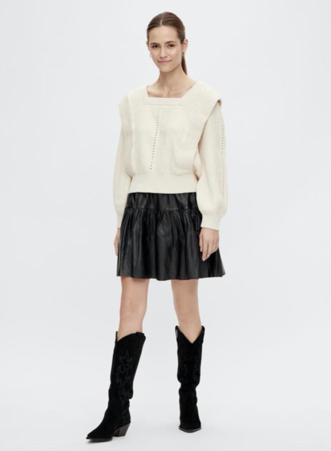 Yaszaria knit pullover eggnog