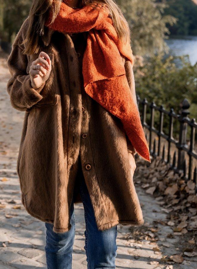 Coat Josie midi camel