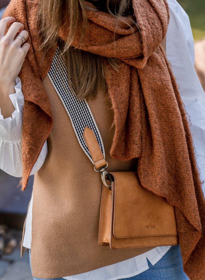 Yastimmi knit vest tobacco brown