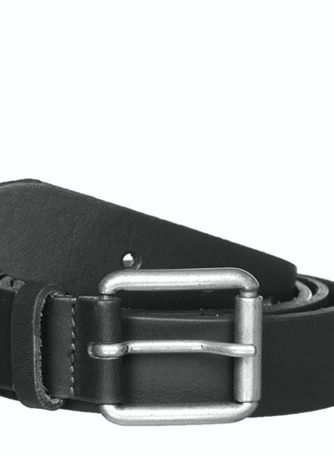 Alex leather belt black TU