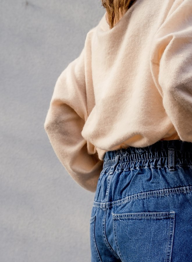 Slouchy jeans blue not distressed