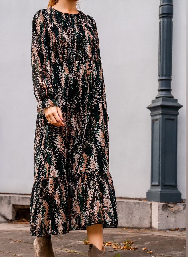 Aline dress green smock