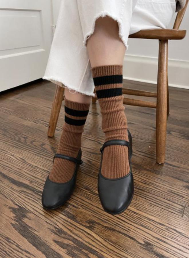 Grandpa varsity socks Tawny black Stripe