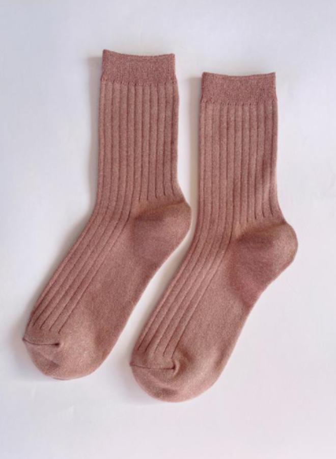 Her socks Coral Glitter