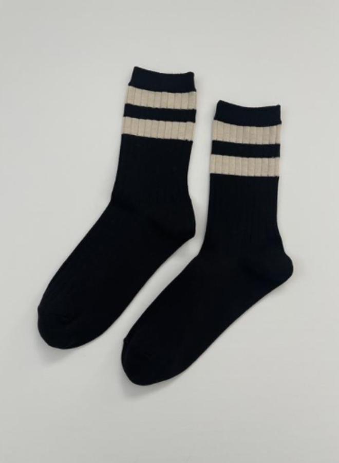 Her varsity socks Black