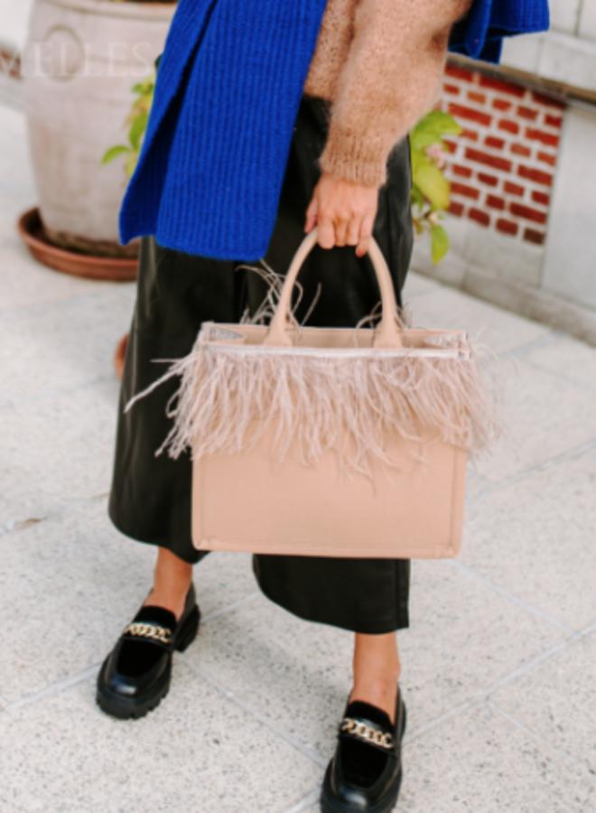 Shopper bag camel