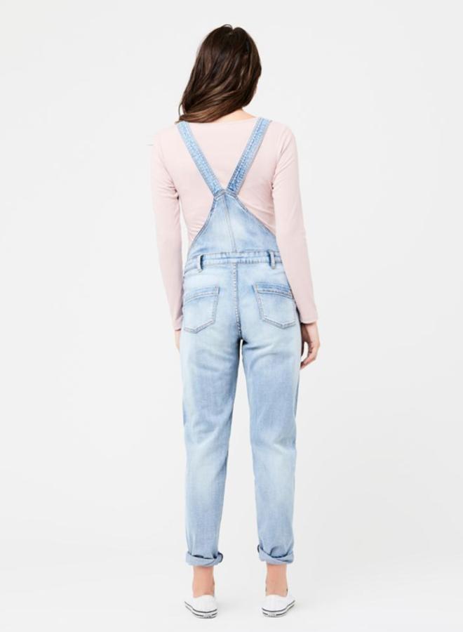 Denim overalls pale blue