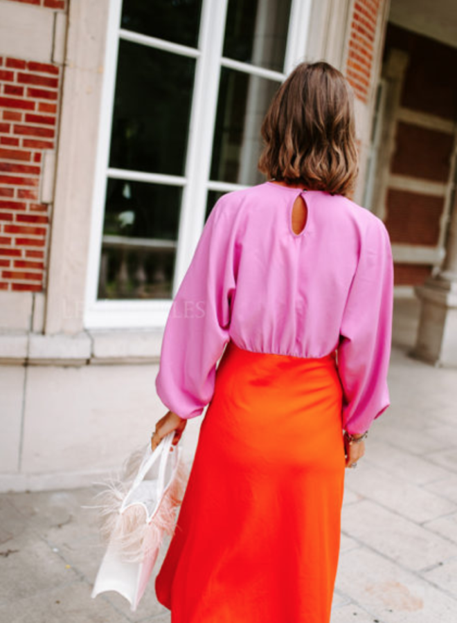 Grace K. dress pink/orange