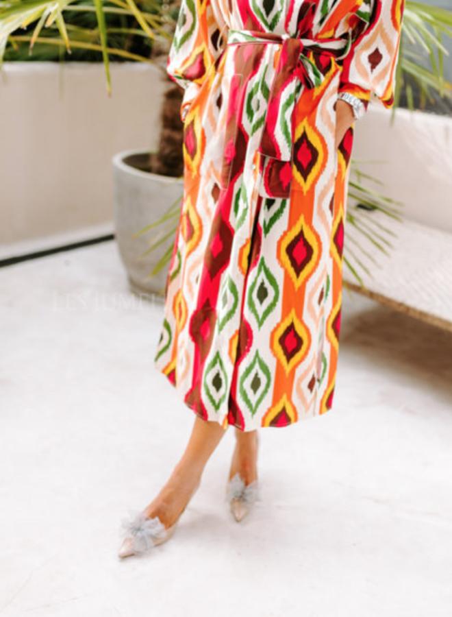 Paula printed dress