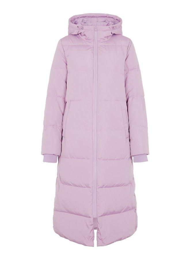 Yasemani long down coat Sheer Lilac