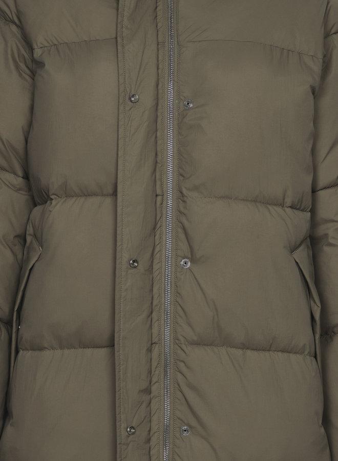 Kelvin padded maxi coat khaki