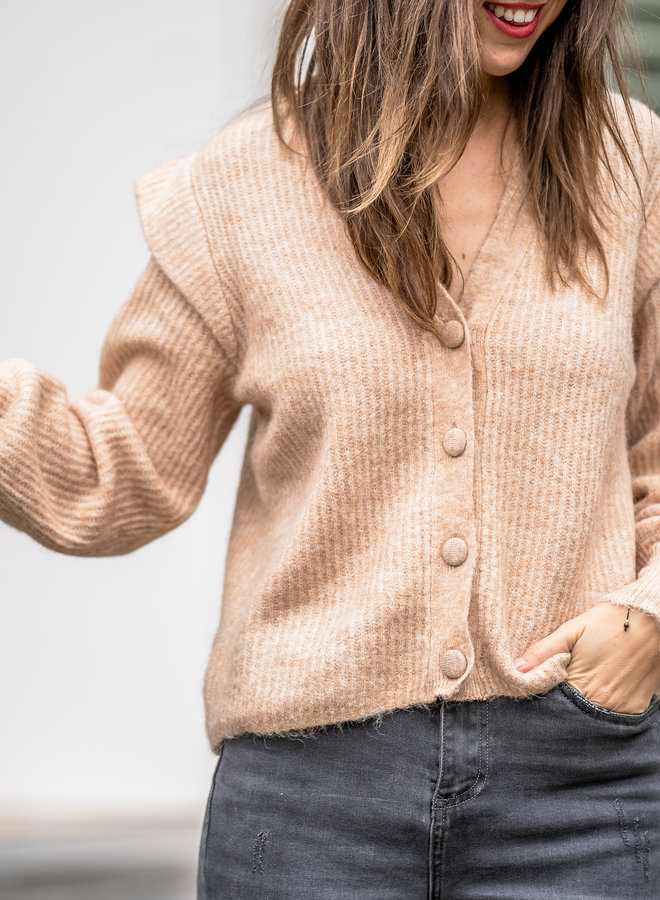 Yasbalira knit cardigan cuban sand