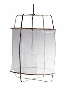 Ay Illuminate Z1 lámpara de bambú y algodón blanco - Ø 67cm x H100cm -Ay illuminate