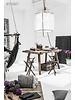 Ay Illuminate Z1 lámpara de bambú y algodón blanco - Ø 67cm x H100cm - Ay illuminate