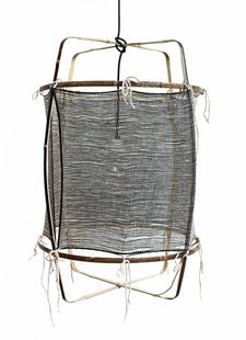 Ay Illuminate Lámpara de techo de bambú y cachemira - 48.5cm Ø - negro Z11 - Ay illuminate