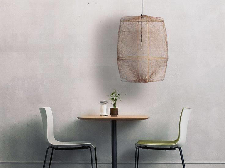 Ay Illuminate ONA Z2 lámpara colgante de bambú y tea sisal - Ø67xh96cm - marrón - Ay Illuminate