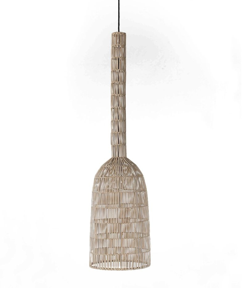 Ay Illuminate Lámpara de colgante de ratán - Umut2 - Natural -  Ø30x114cm - Ay Illuminate