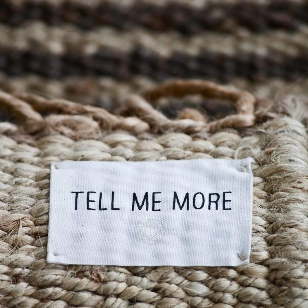 Tell Me More Alfombra Nórdica Étnica de Cáñamo - Gris - 80x150cm - Tell Me More