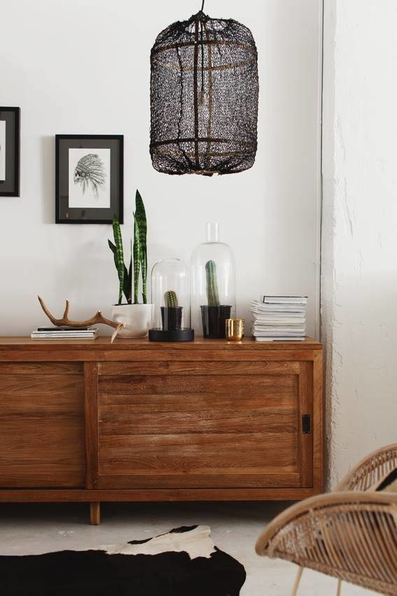 Ay Illuminate Z5 lámpara de bambú y sisal - negra - Ø 42cm x H100cm - Ay illuminate