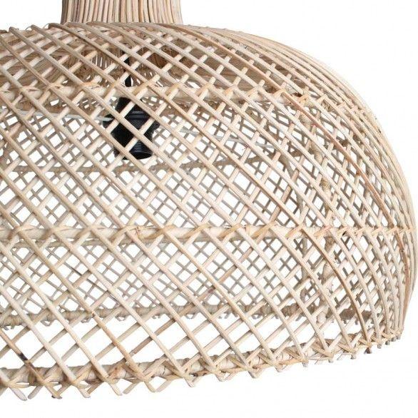 Petite Lily Interiors Lámpara de techo de ratán - natural - Ø56cm