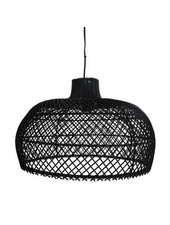 Petite Lily Interiors Lámpara de techo de ratán - negro - Ø56cm