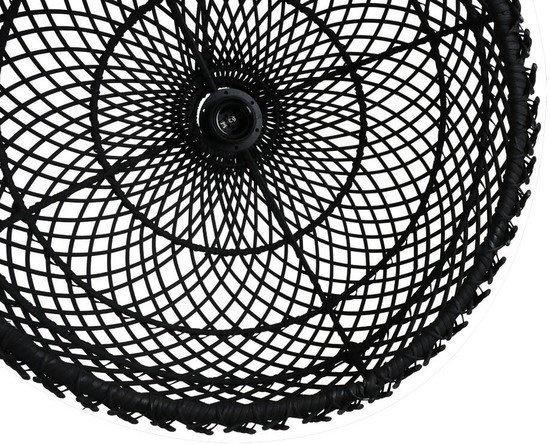 Petite Lily Interiors Lámpara de techo de ratán - negro - Ø39cm