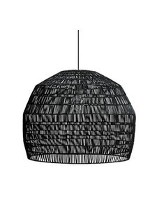 Ay Illuminate Lámpara de techo de ratán negro - Nama3 - Ø72cm - Ay Illuminate